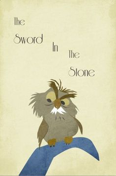 Disney Art The Sword In The Stone Poster movie poster disney poster 11x17. $19.00, via Etsy. I want to hang vintage-feeling posters of old school, classic Disney movies and frame them in a childs room/nursery. SO CUTE!
