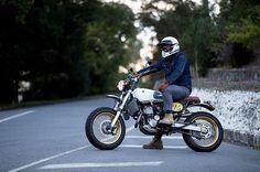 @pjdavepowell on his Suzuki DR-Z400. : @alexdoesphoto found via @brisbanecaferacers. ______________ #suzuki #drz #drz400 #drz400sm #dualsport #supermoto #scrambler #tracker #custombike #builtnotbought