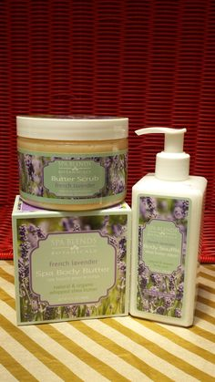 When sleep is elusive and you are trying to recapture the peacefullness of your yoga shavasana, that is when you need to indulge in Tuscany Spa's organic Lavendar Body Care Trio. Scrub with the Lavendar Scrub then massage in the  delicious Body Butter before you lay down. Then start your day off right with the natural Lavendar Body Souffle. Heavenly.