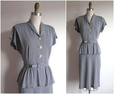 1940s Dress / Vintage 1940s Dress / Plus by TulleandTiaraVintage, $88.00