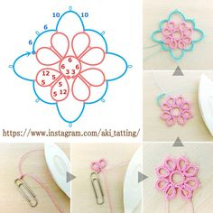 Sewing Stitches For Beginners Tatting Earrings, Tatting Jewelry, Tatting Lace, Shuttle Tatting Patterns, Needle Tatting Patterns, Loom Knitting, Knitting Stitches, Needle Tatting Tutorial, Tutorial Crochet