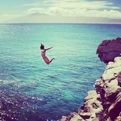 jumping off cliffs into the ocean. fun!!!