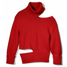 MONSE - Red Cut-Out Turtleneck Sweater | Pink Girl Notes