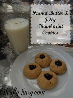 These Peanut Butter and Jelly Thumbprint Cookies are a holiday favorite, but delicious any time of year.