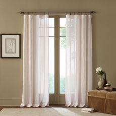 Terra Natural Sheer Rod Pocket Window Curtain Panel - Bed Bath & Beyond