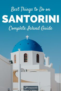 A guide to the very best things to do on the iconic island of Santorini in Greece. Stay in a cave hotel, visit Black and Red Beach, watch the sunset in Oia, walk from Oia to Fira and more. Bucket list travel in Santorini, Greece. | Blog by the Planet D #Travel #TravelTips #TravelGuide #Wanderlust #BucketList #Santorini #Greece #Oia #Fira #Europe #Island #Paradise #GreekIsland