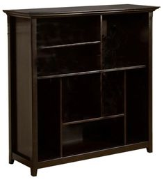 36991 the amherst crazy cube dark brown finish solid wood bookshelf has a simple design that brown solid wood furniture