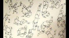Inktober Tribute | 31 Fast & Fun Gesture Drawings - YouTube