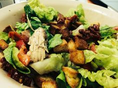 Roasted chicken salad with Italian dressing