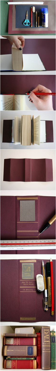 DIY book cover. Love this and want to try it!
