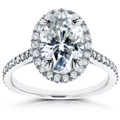 Oval Moissanite and