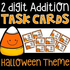 32 addition task cards! Great for math centers, independent work, whole group instruction,