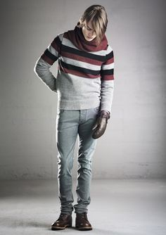 Frost sweater (baby alpaca wool blend), Faulkner tube neck, Clean Jim jeans.  In stores in August 2013.