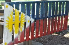 Philippines Flag painted on a Pallet Philippines Flag, Flag Painting, Garden Tools, Pallet, Inspired, Projects, Inspiration, Ideas, Log Projects