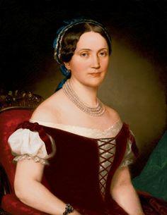 Miklós Barabás, Portrait of a Woman, 1853