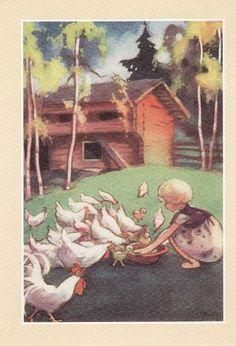 The Art of Martta Wendelin - from… Children's Book Illustration, Book Illustrations, Inspiration Art, Chicken Art, Cottage Art, Art Nouveau, Art Pictures, Childrens Books, Book Art