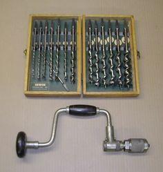 Irwin Brace drill Bit Set.