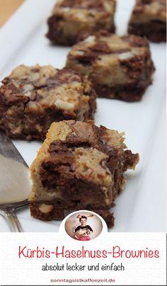 Gerade diese Kürbis-Haselnuss-Brownies mit denn Butternutkürbis verleihen den Brownie´s etwas ganz besonders, und zwar einen tollen nussigen Geschmack. #Kürbis #Haselnuss #Brownies #Kürbis #Butternutkürbis #Rezepte #kürbisrezepte Snicker Brownies, Nutella Brownies, Cheesecake Brownies, Fudgy Brownies, Brownie Cookies, Sweet Bakery, Chef Recipes, Cupcakes, Fudge