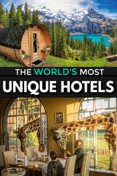 27 Most Unique Hotels in the World – Amazing and Unusual Stays Vacation Places, Vacation Destinations, Vacation Trips, Dream Vacations, Places To Travel, Vacation Ideas, Unique Vacations, Dream Vacation Spots, Greece Vacation