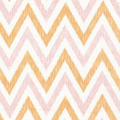 Chevron | Peachy from simpatico by Michelle Engel Bencsko for Cloud9 Fabrics