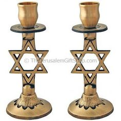 Made from Solid Brass this beautiful pair of Star of David Candlesticks are a guaranteed converstion piece around your dinner table. Great Christian gift for any lover of Israel