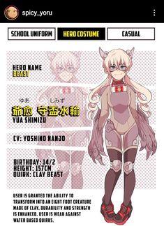 Hero Academia Characters, My Hero Academia, Anime Characters, Hero Costumes, Art Reference Poses, Boku No Hero Academy, Character Design Inspiration, Character Art, Beast