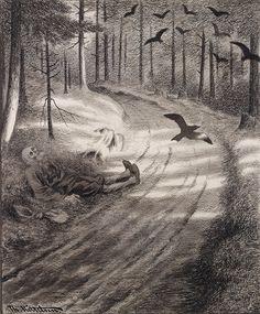 The Book of Worlds: Featured Artist: Theodor Kittelsen Arte Horror, Horror Art, Dark Art Illustrations, Illustration Art, Theodore Kittelsen, Danse Macabre, Black Art, Black Metal, Vanitas