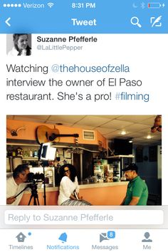 Thanks Suzanne Pfefferle! Two women on a mission. Latino Cuisine in New Orleans Documentary. Co-producers!!