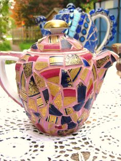 Frances Green - Mosaic Gallery - teapots and bottles