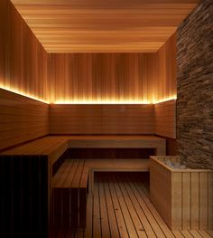 Hotelsuite, hesse, germany: spa by insight vision gmbh - Sauna - Spa Design, Spa Interior Design, Interior Garden, Design Ideas, Home Spa Room, Spa Rooms, Spa Bedroom, Sauna Steam Room, Sauna Room