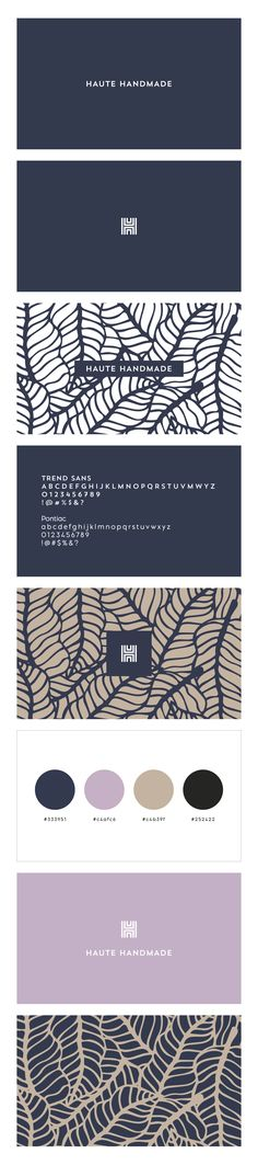 Branding and logo design for a new website, hautehandmade.com, by IAMTHELAB Consulting. 2017 Logo Trends, Logo Design Trends, Design Logos, 2017 Design, Design Set, Brand Design, Ux Design, Graphic Design Typography, Website Background Patterns