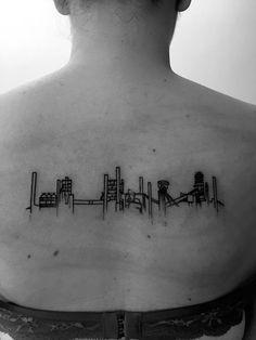 ostrava industrial minimalism tattoo