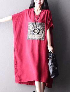 Большой размер вскользь Сыпучие длинное платье Женщины Одежда Q2113A