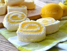 Girelle con crema al limone e cioccolato bianco ricetta veloce senza cottura (a parte la crema) pratica e facilissima, al gusto delicato di limone