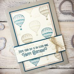 Mikaela Titheridge, Independent Stampin' Up! Demonstrator, The Crafty oINK Pen: Lift Me Up Masculine Birthday Card. Just Ink and paper. Supplies available through my online store.