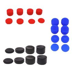 Enhanced ThumbStick Joystick Grip Caps Extra High Enhancement Cover For Sony PlayStation 3/4 PS3 PS4 Xbox 360 Controller Gamepad