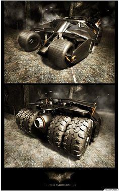 Batman: Batmobile - The Tumbler Batman Car, Batman Batmobile, Batman Comics, Batman Artwork, Batman Wallpaper, Batman Begins, Hot Rods, Batman Universe, Batman The Dark Knight
