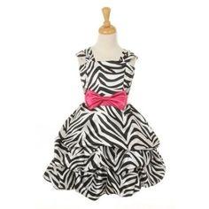 #Couture #Zebra Print #Dress with Sash $45.99