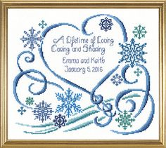 Winter Wedding Counted Cross Sch Kit Needlepoint Embroidery Kits Tools And Supplies