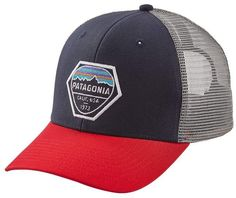 92e04b9c58271 Patagonia Fitz Roy Hex Trucker Hat Classic Hats, Hats For Men, Snapback Hats ,