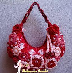 Bolsa Bella - Vermelha (Brilho Ouro)