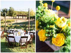 Outdoor Reception Dinner Tables White linen Yellow Roses | Taber Ranch Wedding - Capay Wedding Photographer - Ricky&Anjelica - Chico California Wedding Photography and Videography by Chico Photographer Videographer Couple TréCreative