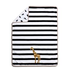Farallon The Peanut Shell Safari /White Velour Giraffe Blanket