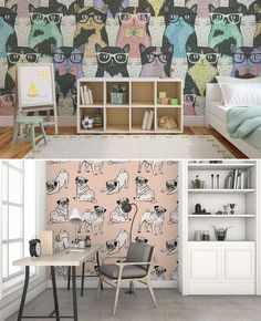 #CATS or #DOGS? #homedecor #ideas #design #office #animals