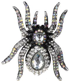 Spider stretch ring halloween animal jewelry gifts for women girls kids W  crystal e4993a6c61