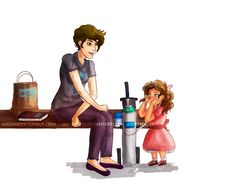 by - a drawing of the scene from tfios where hazel lets a little girl… Fault In The Stars, Hazel Grace Lancaster, An Abundance Of Katherines, John Green Books, Augustus Waters, Tfios, Divergent, Walk To Remember, Looking For Alaska