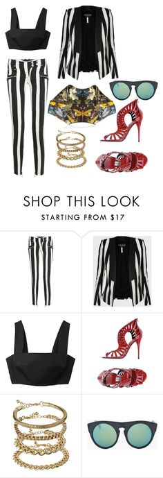 miss atomic bomb by astridlund on Polyvore featuring Balmain, Alexander McQueen, ASOS and Alexander Wang