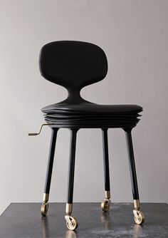 Home work chair, love this design and the combination of black and gold..