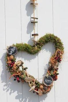 Mooi herfst hart. Verkrijgbaar op webshop Decoratietakken