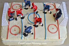 hockey cakes for boys for kids - hockey cakes for boys ; hockey cakes for boys birthday ; hockey cakes for boys for kids Hockey Birthday Cake, Hockey Birthday Parties, Birthday Cake For Husband, Hockey Party, Happy Birthday Cakes, 7th Birthday, Birthday Ideas, Hockey Cupcakes, Hockey Decor